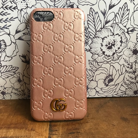 watch bceb8 bb029 Rose Gold Gucci Phone Case For iPhone 7/8